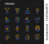 success thin line icons set ... | Shutterstock .eps vector #1149465872
