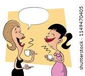 Two Lady Friends Talking Gossi...