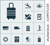 journey icons set with aircraft ... | Shutterstock .eps vector #1149471155