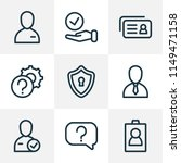 work icons line style set with...   Shutterstock .eps vector #1149471158