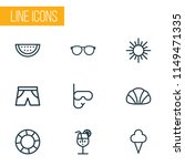 summer icons line style set... | Shutterstock .eps vector #1149471335