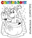 coloring book reindeer theme 2  ... | Shutterstock .eps vector #114947392