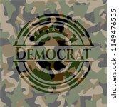 democrat on camo texture | Shutterstock .eps vector #1149476555