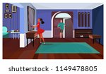 lady standing in front of...   Shutterstock .eps vector #1149478805