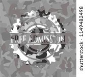 free admission grey camouflage... | Shutterstock .eps vector #1149482498