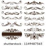 vintage ornaments design... | Shutterstock .eps vector #1149487565