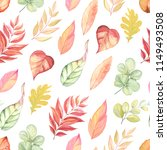 seamless autumn pattern with... | Shutterstock .eps vector #1149493508