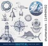 nautical hand drawn vector set | Shutterstock .eps vector #114949432