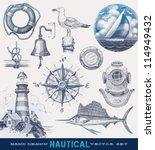 Nautical Hand Drawn Vector Set