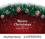 christmas background with fir...   Shutterstock .eps vector #1149505292