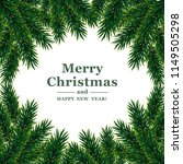 christmas frame.  vector... | Shutterstock .eps vector #1149505298