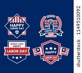 labor day vector logo for...   Shutterstock .eps vector #1149510092