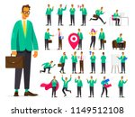 set of businessman character in ... | Shutterstock .eps vector #1149512108