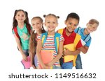Group Of Little Children With...