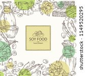 background with different soy... | Shutterstock .eps vector #1149520295