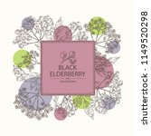background with elderberry... | Shutterstock .eps vector #1149520298