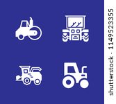 tractor icon set. road roller... | Shutterstock .eps vector #1149523355