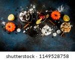 autumn winter warm drinks  hot... | Shutterstock . vector #1149528758