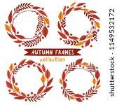autumn frames collection | Shutterstock .eps vector #1149532172