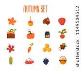 set of farming cartoon objects... | Shutterstock .eps vector #1149534512