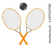 colorful tennis ball and tennis ... | Shutterstock .eps vector #1149534788