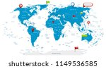detailed world map and glossy... | Shutterstock .eps vector #1149536585