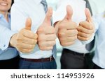 close up of business team... | Shutterstock . vector #114953926