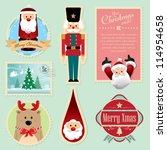christmas decorations element 3 | Shutterstock .eps vector #114954658