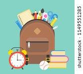 school supplies and school bag  ... | Shutterstock .eps vector #1149551285