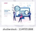 engineering and iot concept for ... | Shutterstock .eps vector #1149551888