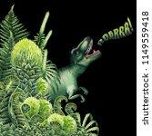 watercolor tirannosaurus rex... | Shutterstock . vector #1149559418