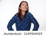 beautiful cute european female...   Shutterstock . vector #1149564425