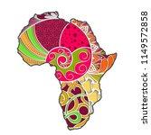 textured vector map of africa....   Shutterstock .eps vector #1149572858