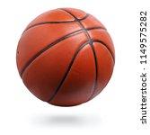 Orange Basketball Ball Isolate...