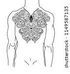 ethnic abstract tattoo on the... | Shutterstock .eps vector #1149587135