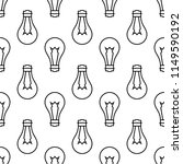 bulb icon seamless pattern... | Shutterstock .eps vector #1149590192