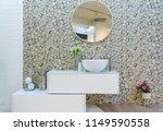 interior of bathroom with sink... | Shutterstock . vector #1149590558