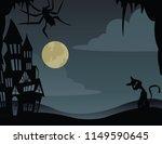 illustrations for halloween  ... | Shutterstock .eps vector #1149590645