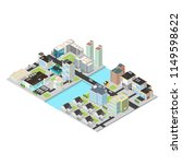 isometric vector city districts.... | Shutterstock .eps vector #1149598622