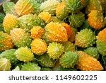 closeup of ripe yellow  orange... | Shutterstock . vector #1149602225