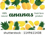 vector illustration of ananas... | Shutterstock .eps vector #1149611438