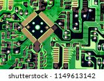 abstract close up of mainboard... | Shutterstock . vector #1149613142