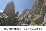 sharp craggy peak rocks on the... | Shutterstock . vector #1149613658