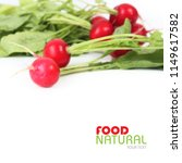 ripe red radish with leaves.... | Shutterstock . vector #1149617582