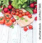 fresh ingredients for cooking... | Shutterstock . vector #1149617585