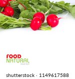 ripe red radish with leaves.... | Shutterstock . vector #1149617588