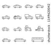 car icon set vector | Shutterstock .eps vector #1149620042
