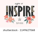 inspire slogan with pearl... | Shutterstock .eps vector #1149627068