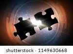 couple puzzle piece with... | Shutterstock .eps vector #1149630668