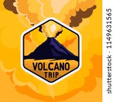 Volcano Yellow Sky Badge With...